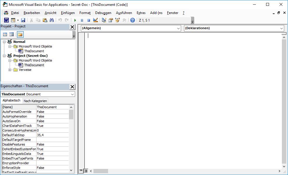 Word Protokollieren VBA